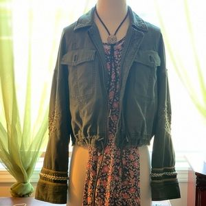 Free people cropped army jacket